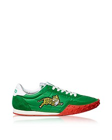 Memento Green Nylon and Suede Kenzo Move Women's Sneakers - Kenzo