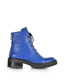 Blue Nappa Leather Tiger Boot