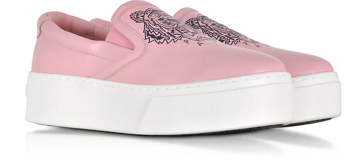 d8ebbfefea Kenzo Pink Leather Tiger Slip on Flatform Sneakers 37 IT/EU at FORZIERI