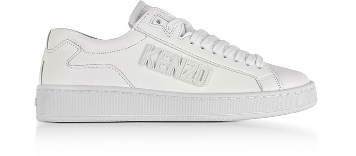 Tennix White Leather Low Top Sneakers