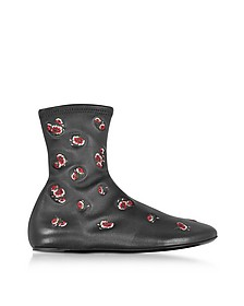 Black May Flowers Boots - Kenzo