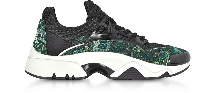 Sonic  Sneakers in Canvas Jacquard con Lacci - Kenzo