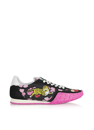 Black and Fuchsia Kenzo Move Women's Sneakers - Kenzo