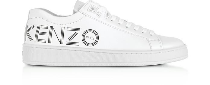 Kenzo Tennix Leather Sneakers White