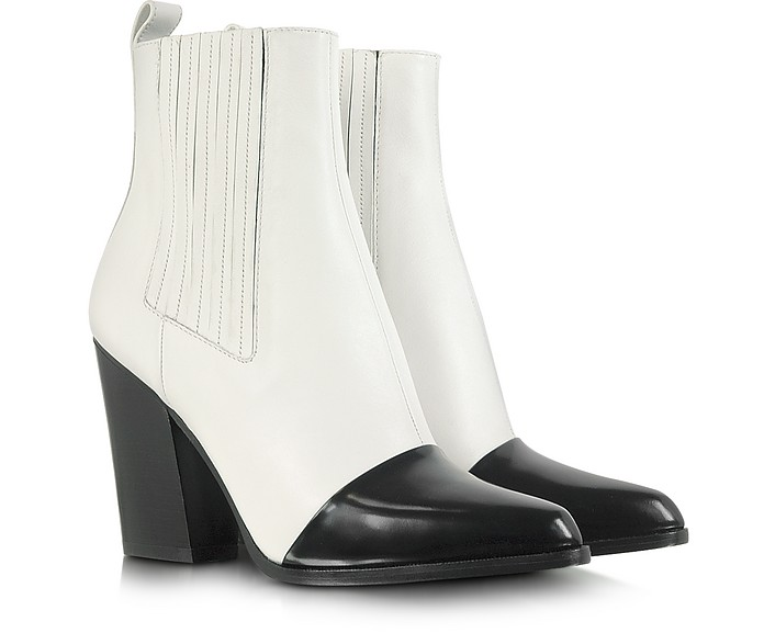 Color Block Leather Ankle Boot - Kenzo