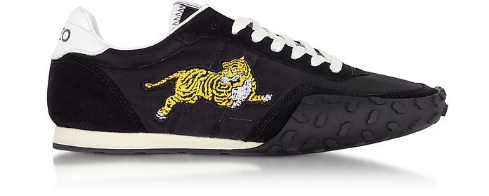 Black Nylon and Suede Kenzo Move Men's Sneakers - Kenzo