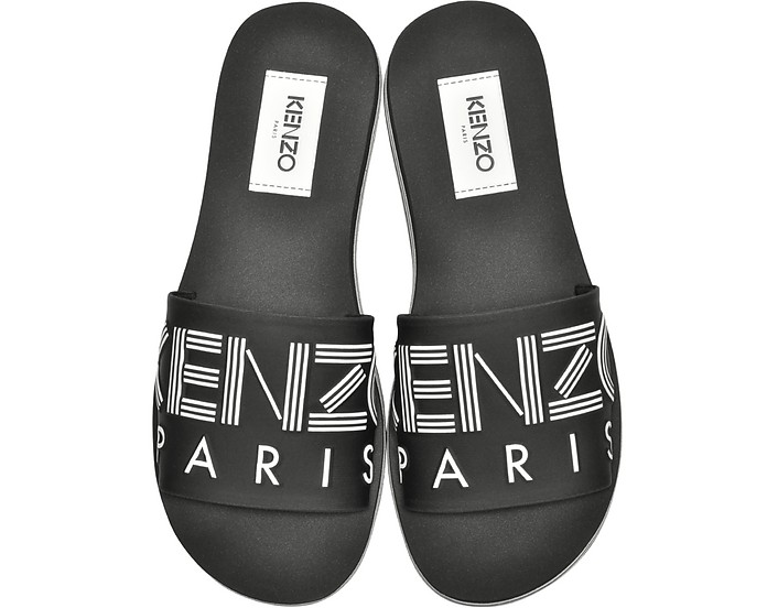 Black Neoprene Men's Sandals - KENZO / ケンゾー