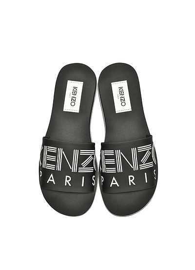 Black Neoprene Men's Sandals - Kenzo