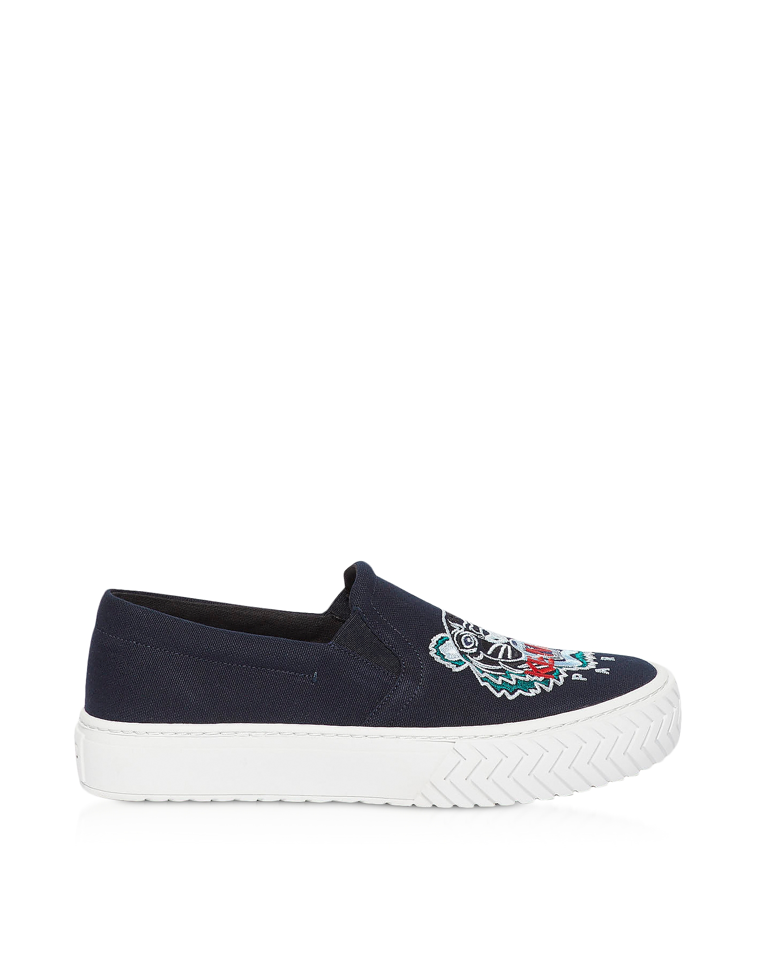 Kenzo Sneakers CANVAS TIGER HEAD EMBROIDERY SNEAKERS