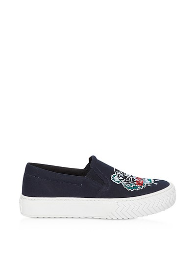 Canvas Tiger Head Embroidery Sneakers - Kenzo
