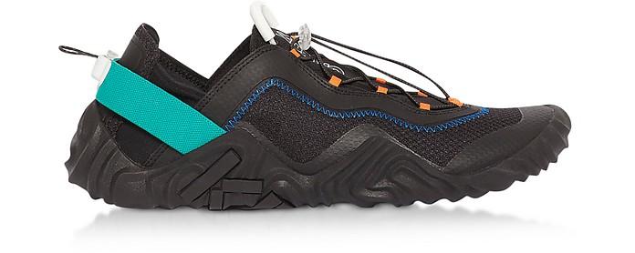 Black Mesh Kenzo Wave Runway Sneakers - Kenzo