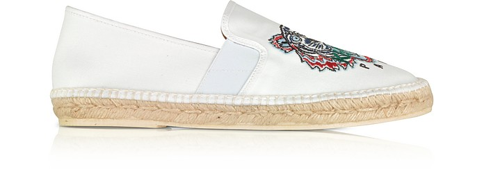 Optic White Tiger Men's Espadrillas - Kenzo