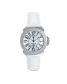 Pillola Leather Women's Watch w/Diamonds