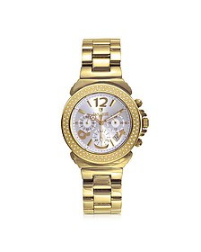 Pillo Chronograph Yellow Gold Bracelet Women's Watch