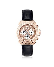 Pillo Deco' Leather Band Women's Chronograph Watch
