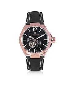 Space Shuttle Meccanico Rose Gold PVD Stainless Steel and Nubuck Men's Watch - Lancaster