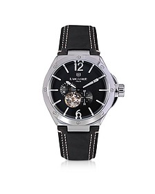 Space Shuttle Meccanico Stainless Steel and Black Nubuck Men's Watch - Lancaster
