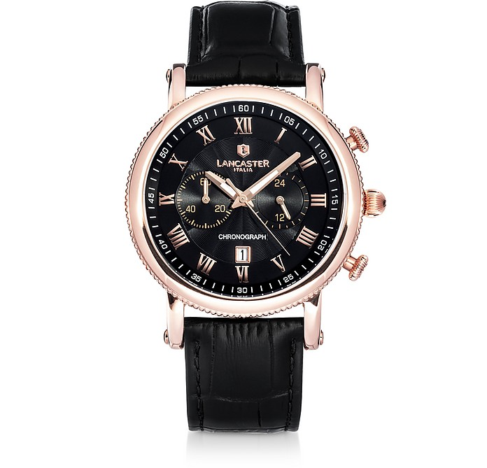 Monarch Chronograph Rose Gold Stainless Steel Watch - Lancaster