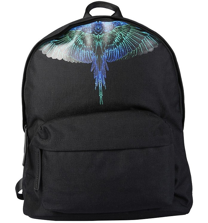 Backpack With Wings Print - Marcelo Burlon