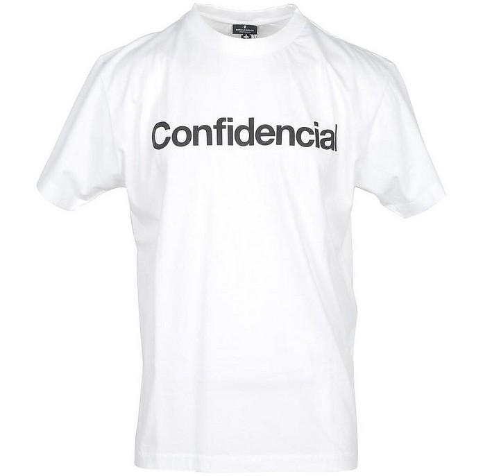 Men's White T-Shirt - Marcelo Burlon / マルセロ バーロン