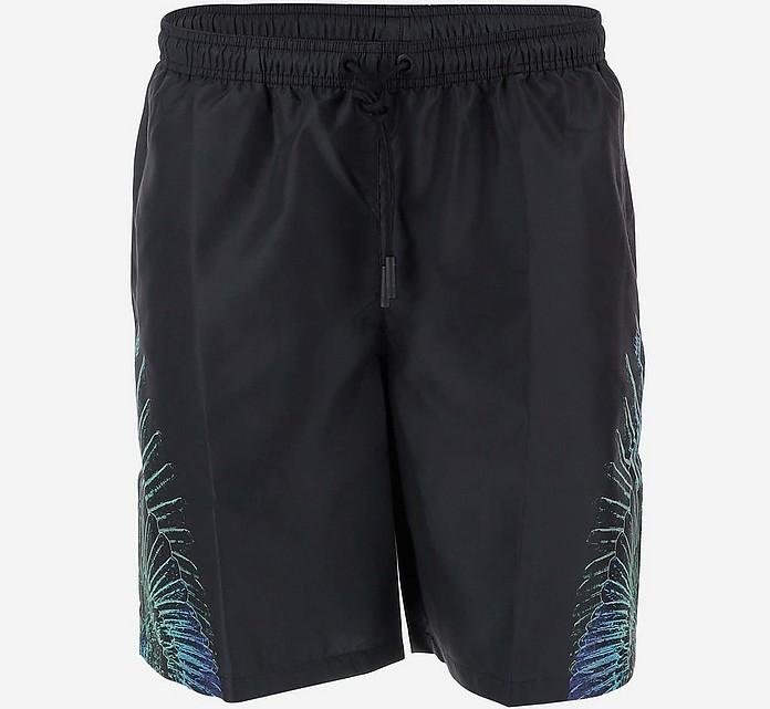 Black Men's Swim Shorts - Marcelo Burlon