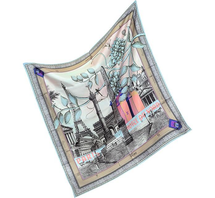 Paris - Large Silk Square Scarf - Christian Lacroix