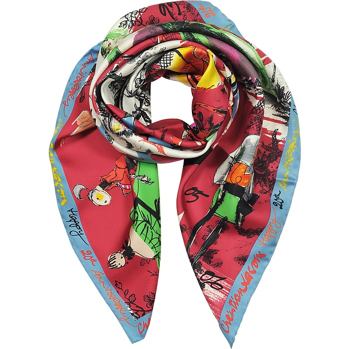 20 Ans Printed Silk Scarf  - Christian Lacroix