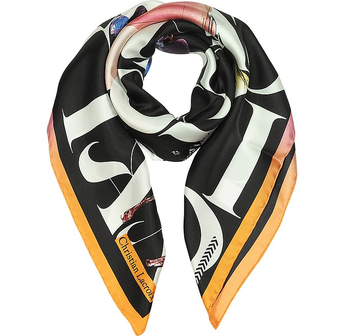 Lacroix Parade Printed Silk Scarf - Christian Lacroix