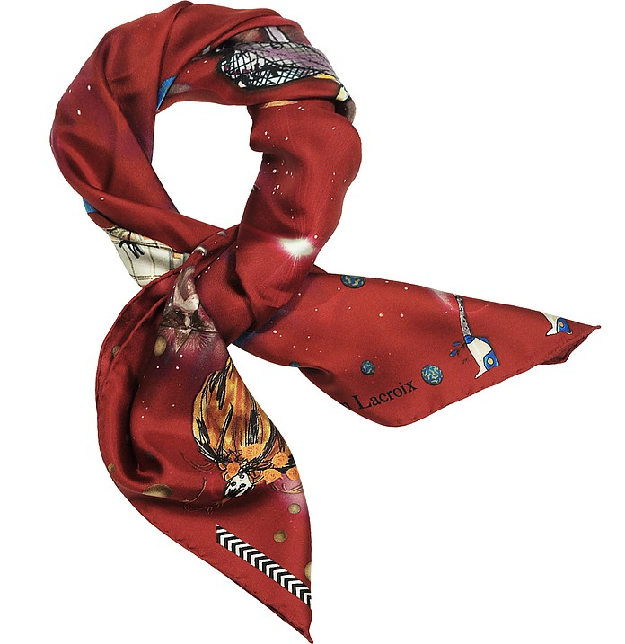 Fashion Big Bang Printed Silk Scarf - Christian Lacroix