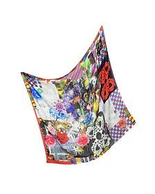 Bouquet Print Wool Wrap