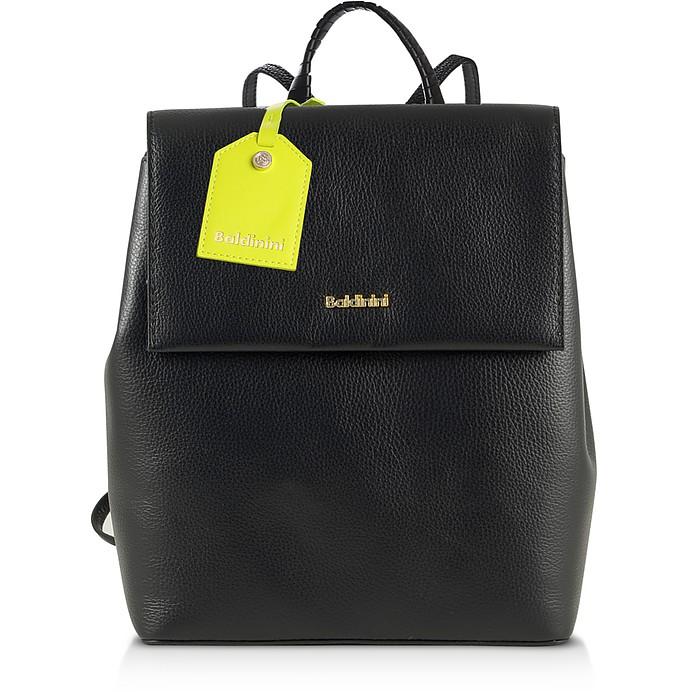 Black Eco-Leather Backpack - Baldinini / バルディニーニ