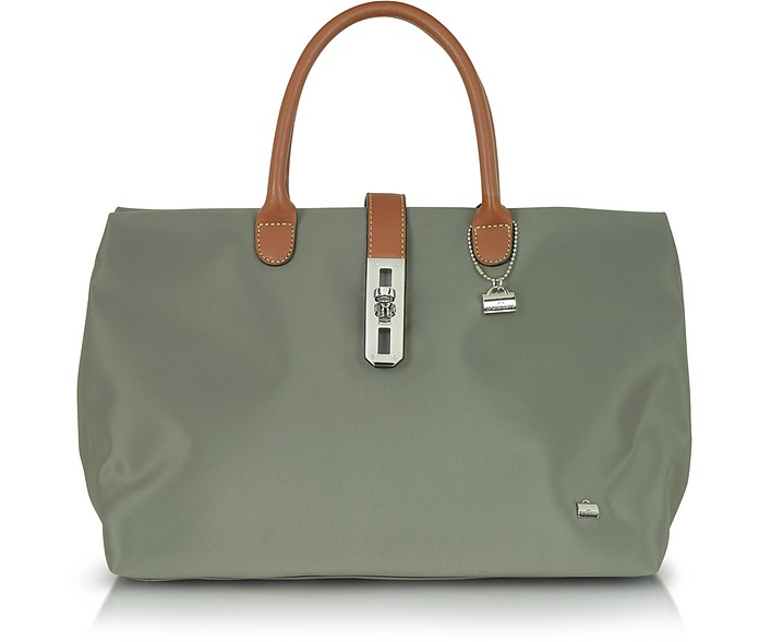 Large Nylon and Leather Tote - La Bagagerie
