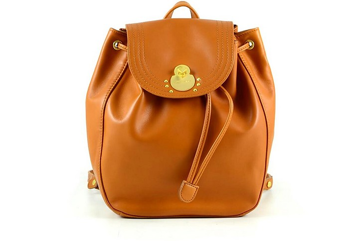 Brown Leather Women's Backpack - Longchamp / ロンシャン