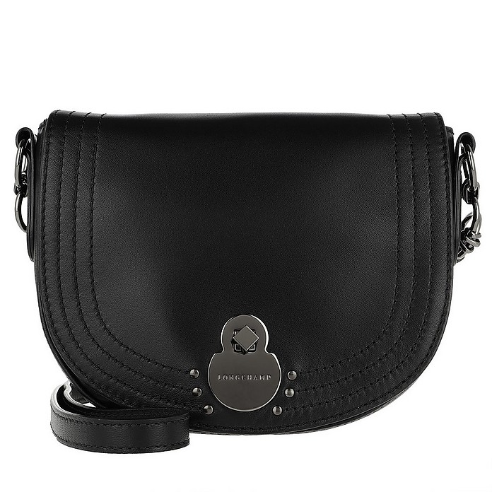 Cavalcade Crossbody Bag Small Black - Longchamp