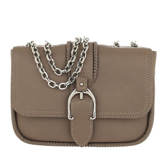 Amazone Buckle  Shoulder Bag Taupe - Longchamp