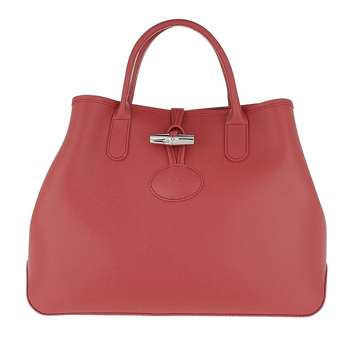 Roseau Shopper S Leather Fig - Longchamp