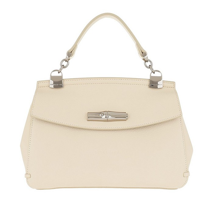 Madeleine Messenger Bag Leather Ivory - Longchamp