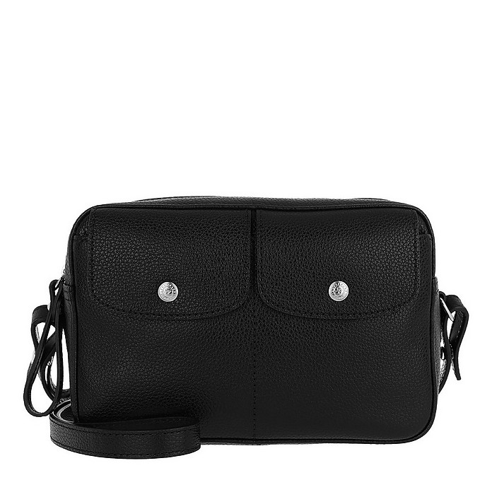 Le Foulonné Crossbody Bag Leather Black - Longchamp