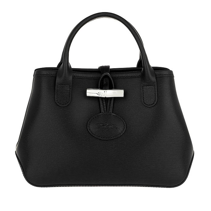 Roseau Crossbody Bag Leather Black - Longchamp
