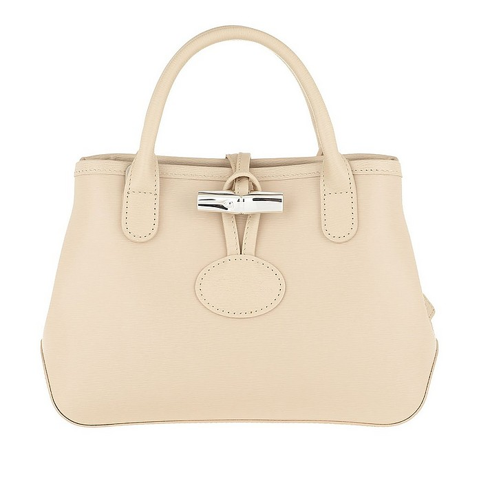 Roseau Crossbody Bag Leather Ivory - Longchamp