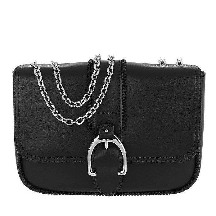 Paris Shoulder Bag Leather Black - Longchamp