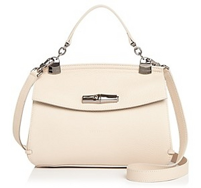 Madeleine Natural Leather Top Handle Satchel Bag - Longchamp