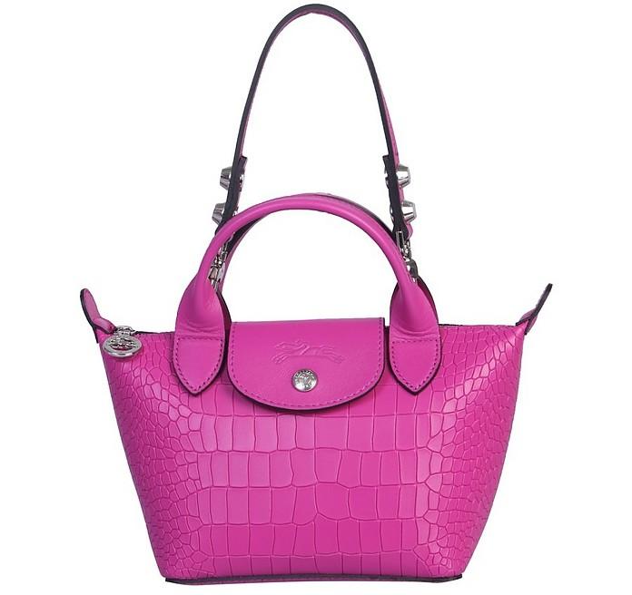"Mini ""La Pliage Cuir"" Bag - Longchamp"