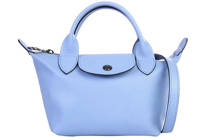 Le Pliage Cuir Light Blue XS Top-Handle Bag