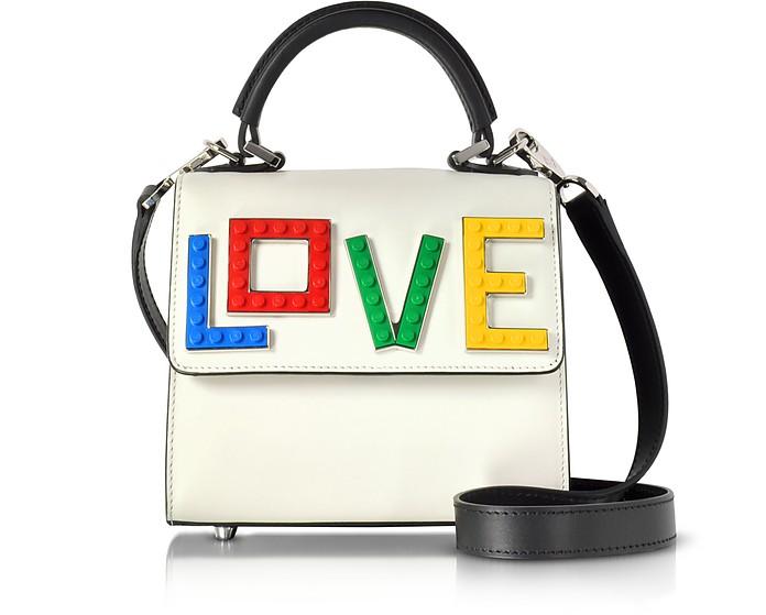 Baby Alex Rainbow Love Pure White Leather Satchel Bag - Les Petits Joueurs