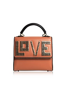 Mini Alex Golden love Leather Satchel Bag - Les Petits Joueurs
