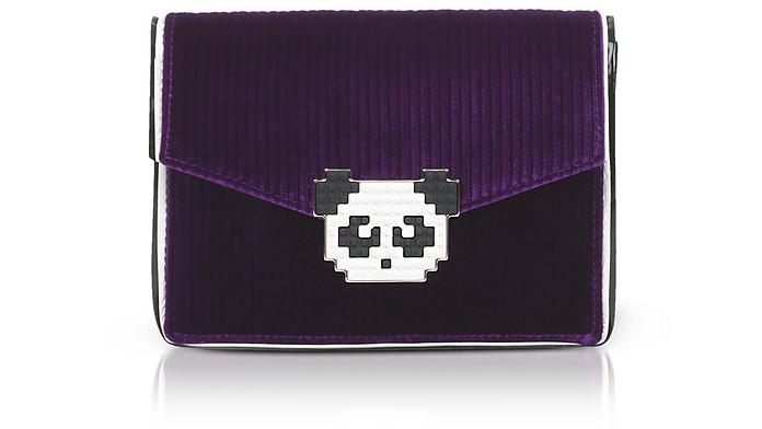 LES PETITS JOUEURS Panda Embellished Crossbody Bag in Purple
