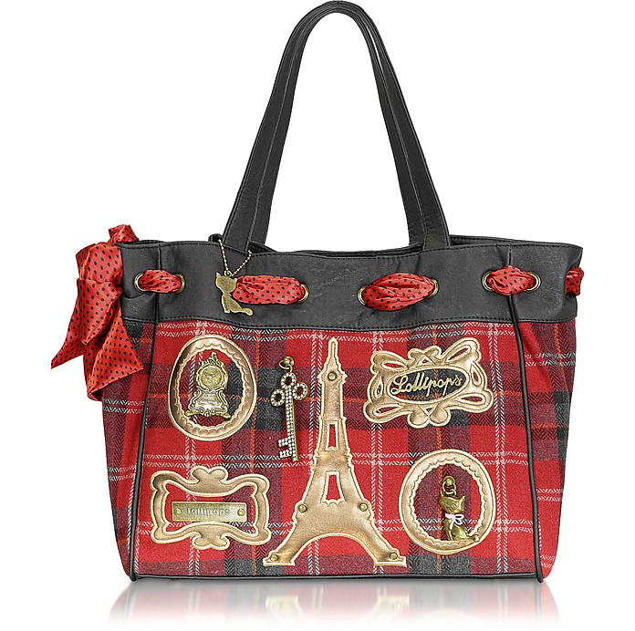 Larry Body - Red Plaid Tote - Lollipops