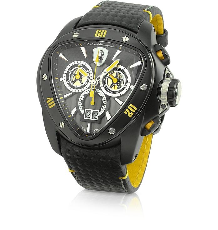 Tonino Lamborghini Spyder Black Stainless Steel Chronograph Watch