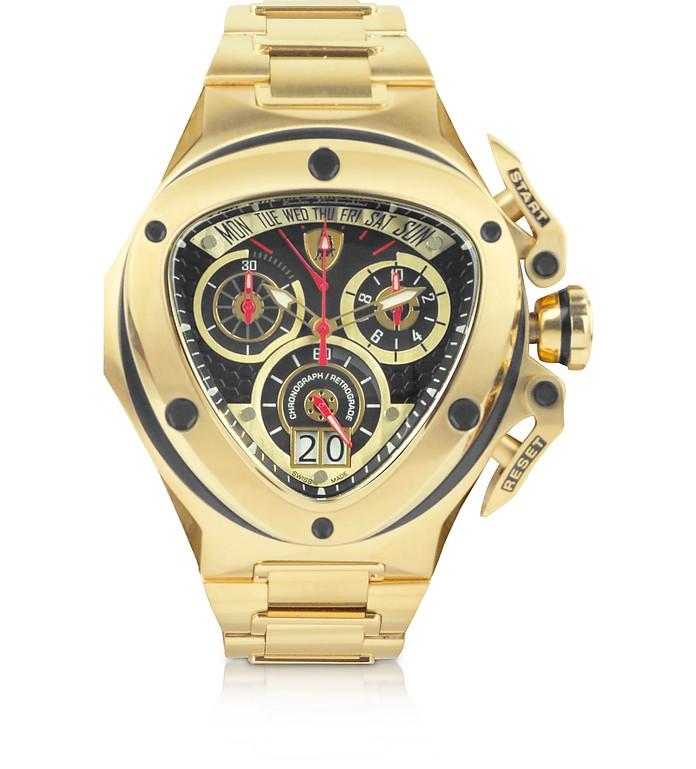 spyder - montre chrono dorée tonino lamborghini sur forzieri